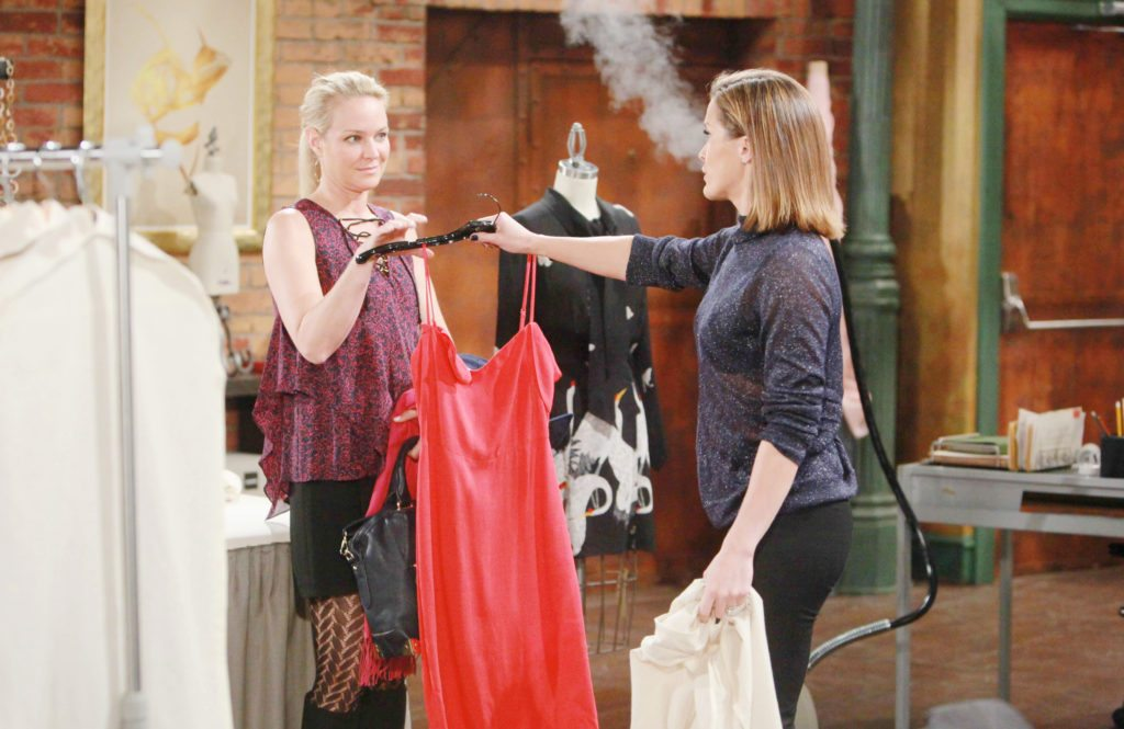 """Sharon Case, Melissa Claire Egan """"The Young and the Restless"""" Set CBS television City Los Angeles 10/25/16 © Howard Wise/jpistudios.com 310-657-9661 Episode # 11069 U.S. Airdate 12/09/16"""