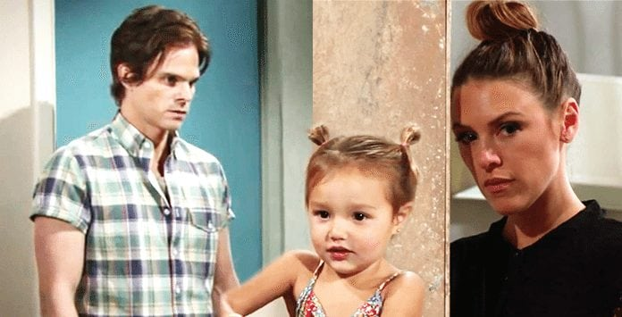 Kevin, Bella, and Chloe on The Young and the Restless