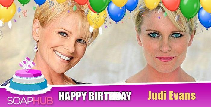 Happy Birthday Judi Evans