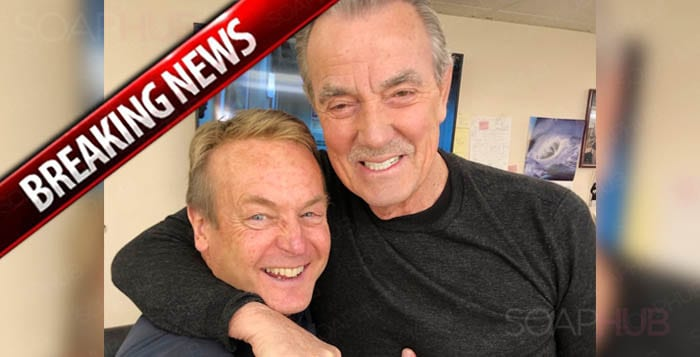 Eric Braeden and Doug Davidson The Young and the Restless February 15