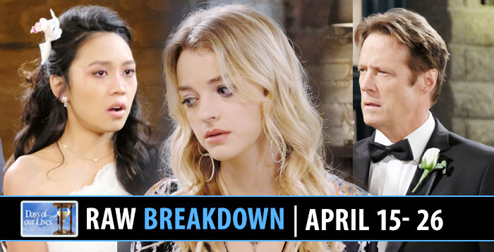 Days of our Lives Spoilers April 15-26, 2019