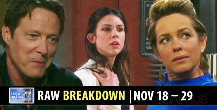 Days of our Lives spoilers November 18-29