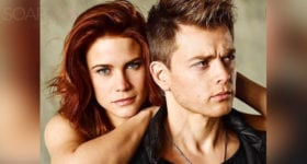 Courtney Hope and Chad Duell