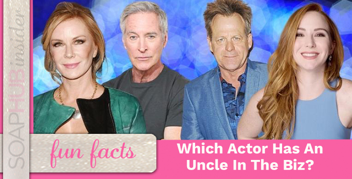 Which Soap Star Has An Uncle Who Was On Several Successful Series