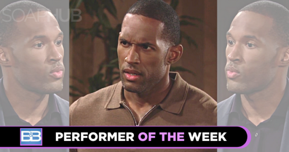 Lawrence Saint-Victor Performer of the Week on B&B